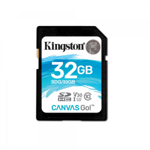 Kingston karta pamięci Canvas Go 32GB SDHC 90R/45W CL10 U3 V30