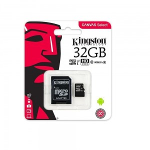 Kingston Canvas Select karta pamięci microSDHC 32 GB, UHS-I, klasa 10 z adapterem