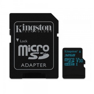 Kingston karta pamięci Canvas Go 32GB microSDHC 90R/45W U3 UHS-I V30 + adapter