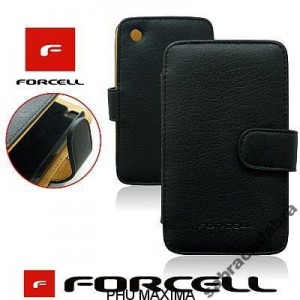 KABURA FORCELL PRESTIGE - iPhone 4G CZARNA BOOK