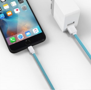 Kabel ROCK USB do iPhone 5S SE 6 7 8 X iPaD 100 cm BLUE