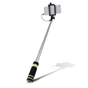 Selfie stick Setty audio jack czarny
